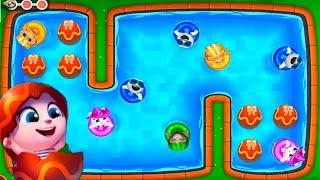 ГОВОРЯЩИЙ ТОМ АКВАПАРК ОХОТА ЗА ЯЙЦАМИ  #2 мультик игра видео для детей  Talking Tom Pool Egg Hunt