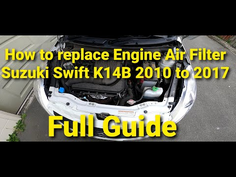 How to replace Suzuki Swift K14B Engine Air Filter 2010 to 2017 3rd Gen (Full guide)