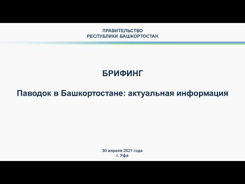 Брифинг по ситуации с паводком на территории Республики Башкортостан: 30 апреля