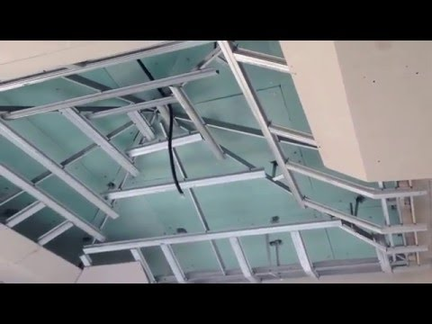 INSIDE & OUTSIDE OF FALSE CEILING IN FLAT & PYRAMID SHAPE(part 2)