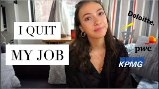 I QUIT MY BIG 4 CONSULTING JOB | Why I Left Management Consulting (emotional)