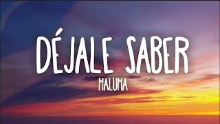 Maluma   Déjale Saber (Letra)