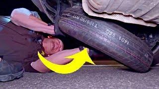 Mechanic Checks Cop's Tire, Then Spots Green Nest Inside