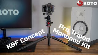 K&F Concept Pro Tripod/Monopod Kit Unbox & Review - DSLR Camera - TM2515T