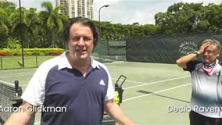 Watch Current Medias Aaron Glickman Take A Post-Covid 19 Tennis Lesson With WIs Decio Raven