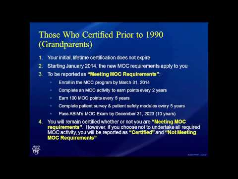 Dr. Ting Reviews the New ABIM Maintenance of Certification (MOC) Requirements