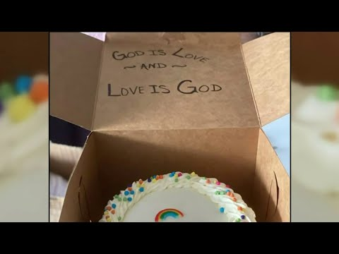 Detroit baker targeted by hate group stays positive