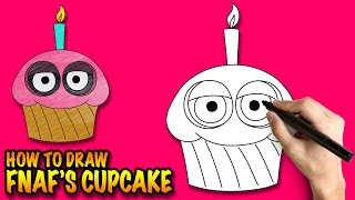 How to draw the Cupcake from FNAF - Easy step-by-step drawing lessons for kids