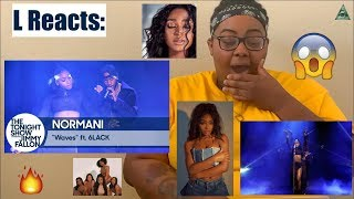 NORMANI   WAVES FEAT. 6LACK LIVE ON JIMMY FALLON | REACTION