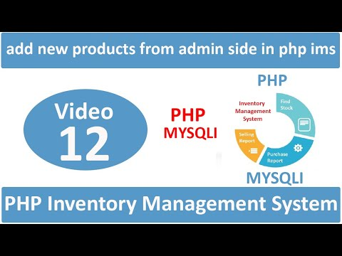 how to add new products from admin side in php ims