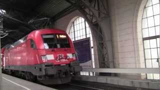 preview picture of video 'Bahnhof Dresden Neustadt (Dresden Neustadt Station), Dresden, Germany - February 2013'