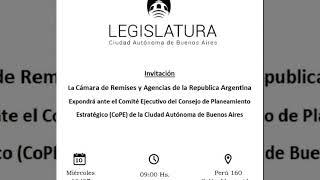 La Camara de Remises y Agencias de la República Argentina en la Legislatura Porteña