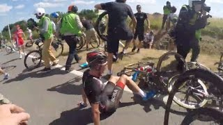 Tour de France 2015 Stage 3 crash - OGE Mechanic Cam