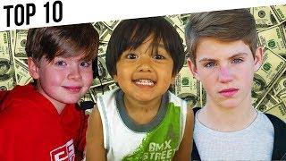 Top 10 RICHEST Youtuber Kids (Jacob Sartorius, MattyBRaps, EvanTubeHD, EthanGamerTV)
