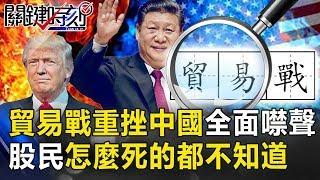貿易戰重挫中國「全面噤聲」? 「懸崖式」暴跌股民怎麼死的都不知道! 關鍵時刻20190508-2 黃世聰 吳子嘉