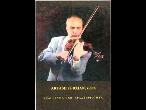 """KOMITAS """"KROUNK""""  violin- Artash Terzian,piano-Zozefina Orfanidi"""