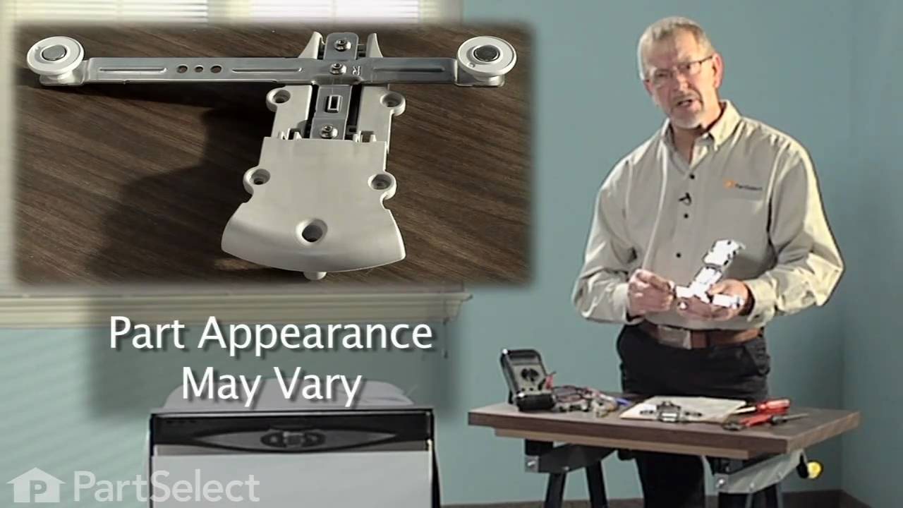Replacing your Maytag Dishwasher Rack Adjuster with Wheels - Left Side