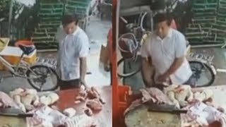 video: Chinese man admits stealing pork left in bicycle basket as prices rise during swine flu epidemic