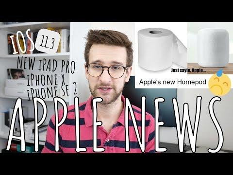 Apple NEWS - o HomePod,  nowych urządzeniach Apple, iPhone SE 2, iPad Pro, iOS 11.3 (5 - 11.02.2018)