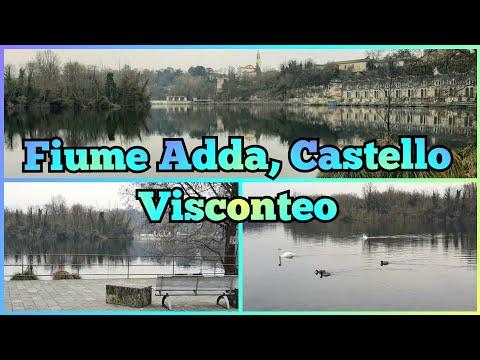 131.2) Fiume Adda, Castello Visconteo, passeggiata 🔷️ РЕКА АДДА, ЗАМОК ВИСКОНТЕО, ПРОГУЛКА 🇮🇹 Италия