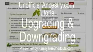 Upgrading Your Ancestry.com Account