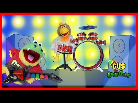 Musical Band with Real Instruments and Gus the Gummy Gator