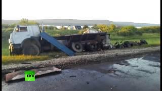 Крупное ДТП с участием автобуса и грузовика в Татарстане: видео с места трагедии