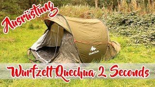 Zelt Quechua 2 Seconds - Wurfzelt für Camping und Outdoor | Test Review German Deutsch