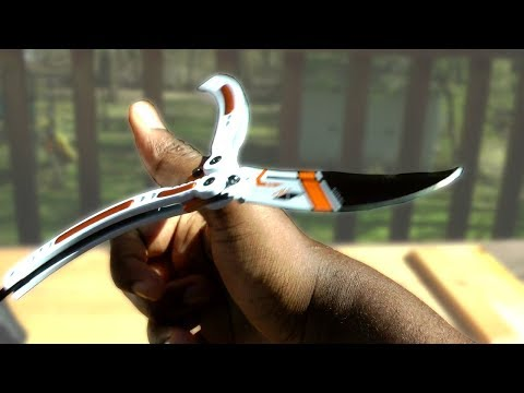 Real [SHARP] CS:GO Asiimov Butterfly Knife Review!