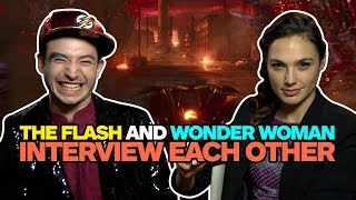 Wonder Woman and The Flash Interview Each Other