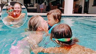 All My Kids Finally Learns How To Swim! (Two Years Old and Four Years Old)