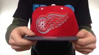 Red Wings '3M XL-LOGO SNAPBACK' Red-Grey Hat by Mitchell & Ness