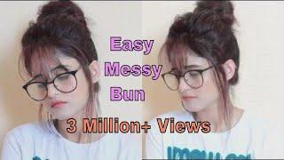 Easy Everyday Messy Bun | Hair Tutorial | Anukriti Lamaniya