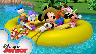 Mickey And Friends Go Rafting ⛺| Mickey Mornings | Mickey Mouse Mixed-Up Adventures | Disney Junior