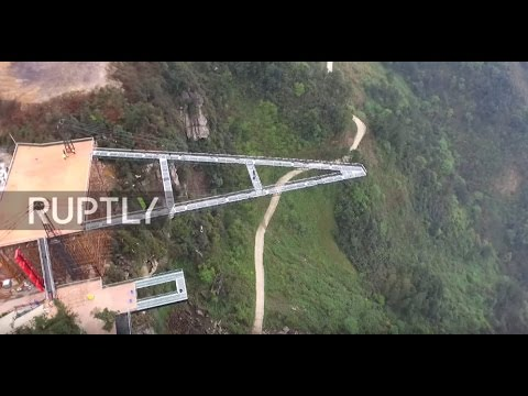 China: Vertigo sufferers look away! 80m skywalk unveiled in Chongqing