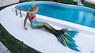 Unboxing My FIRST MERMAID TAIL   Finfolk Golden Giza Review