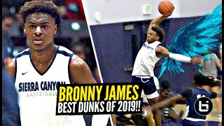 Bronny James BEST 9th Grade Dunks! You Wont BELIEVE How Much Bronnys BOUNCE IMPROVED From 2018 to 19