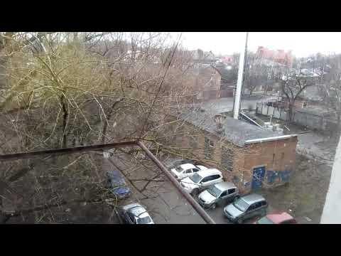 Снег в Ростове-на-Дону 24 марта