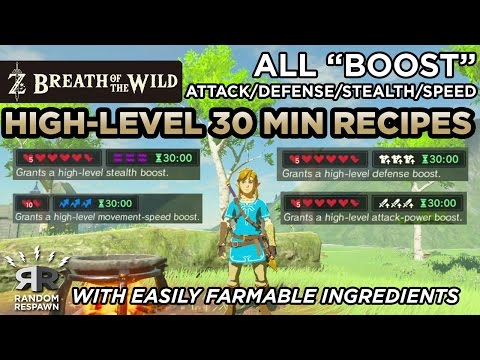 Video Zelda: Breath of the Wild - Best High-Level 30 Min. Attack/Defense/Stealth/Speed Recipes