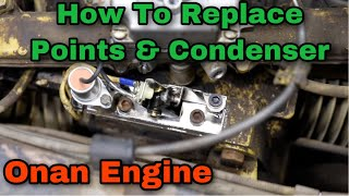 How To Replace Points & Condenser On An Onan Engine