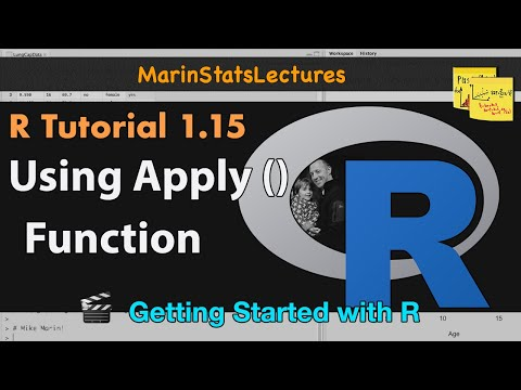 apply() Function in R (R Tutorial 1.14)