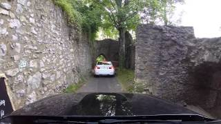 preview picture of video 'BMW M4 - A Tight Squeeze Departing Castle Kerpen'