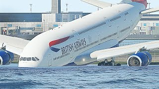 A380 Runway Overrun Emergency Landing - X-Plane 11