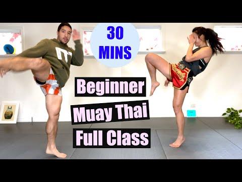 BEGINNER MUAY THAI - Full Class, 30 Minutes // No Equipment