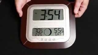 WS-8418U-IT Atomic Digital Wall Clock