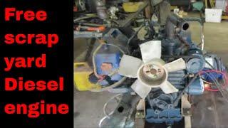 Will IT Run? Junked small Diesel engine.