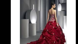 Red & White Wedding Dress - The Color Red | Pics For Young Modern Fashion & Lifestyle