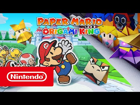 Join Mario on a comedic adventure, featuring familiar faces with a new origami look, in Paper Mario: The Origami King, coming July 17th!
