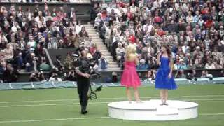 Katherine Jenkins and Farrel Smith at Wimbledon Roof Operning - Amazing Grace