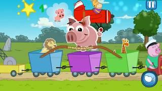 Гиппо Пеппа поезд   развивающий мультфильм для детей, развиваем внимание и память